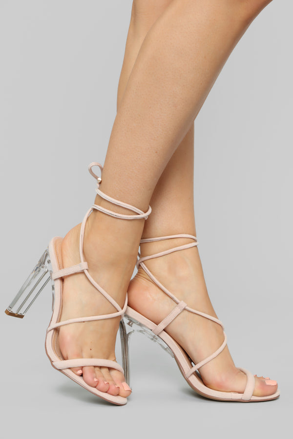 7d431b5a8aa1 Your Loss Not Mine Heeled Sandals - Nude