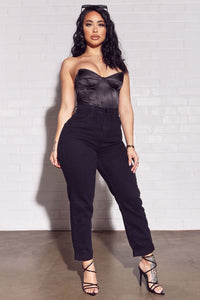 I Got It From My Mama Jeans - Black Angle 1