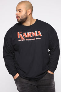 Karma Long Sleeve Tee - Black/combo Angle 6