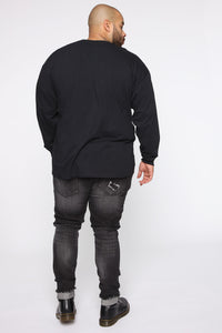 Karma Long Sleeve Tee - Black/combo Angle 10