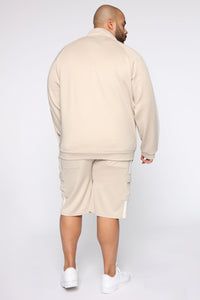 Post Cargo Short - Stone/White Angle 13