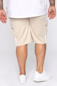 Post Cargo Short - Stone/White Angle 12