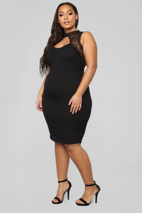 Handle My Love Dress - Black