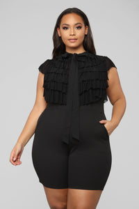 Move All Night Romper - Black