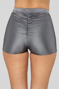 Focus On Me Mini Shorts - Charcoal