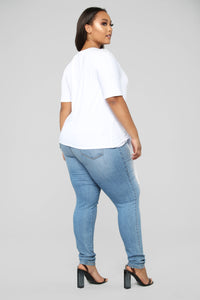 Side By Side Top - White