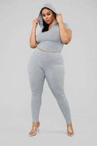 Let The Adventure Begin Leggings - Grey Angle 8