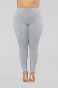 Let The Adventure Begin Leggings - Grey Angle 7