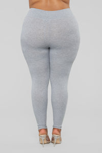 Let The Adventure Begin Leggings - Grey Angle 12