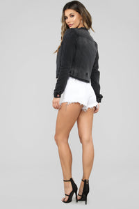 Rosanna Denim Jacket - Black