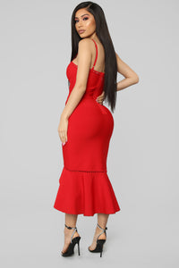 Don't Break Your Promise Bandage Dress - Red
