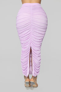 Lana Ruched Skirt Set - Lavender Angle 8