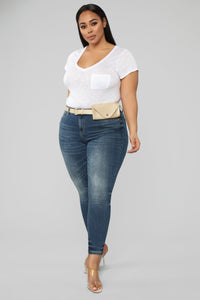 Pack It Up Mid Rise Jeans - Medium Wash Angle 1