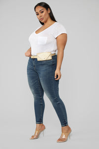 Pack It Up Mid Rise Jeans - Medium Wash Angle 3