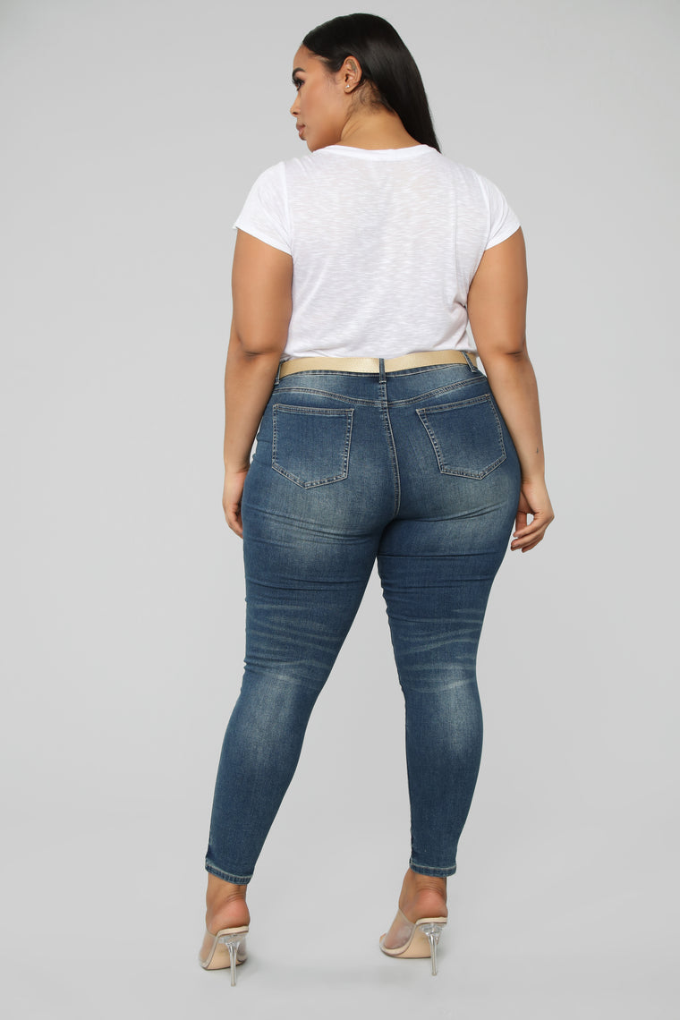 Pack It Up Mid Rise Jeans - Medium Wash