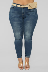 Pack It Up Mid Rise Jeans - Medium Wash Angle 2