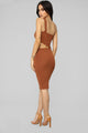 Cross My Corazon Sweater Dress - Cognac