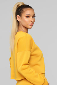 Like A Champ Pullover Sweatshirt - Yellow