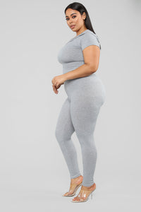 Let The Adventure Begin Leggings - Grey Angle 9