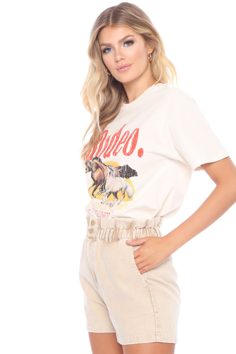 Rosalie Rodeo Screen Tee - Taupe