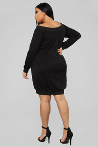 Tell Me The Sitch Dress - Black