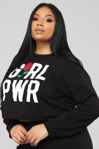 Grl Pwr LS Top - Black