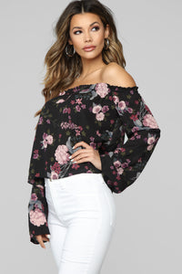 Was Always You Top - Black Floral