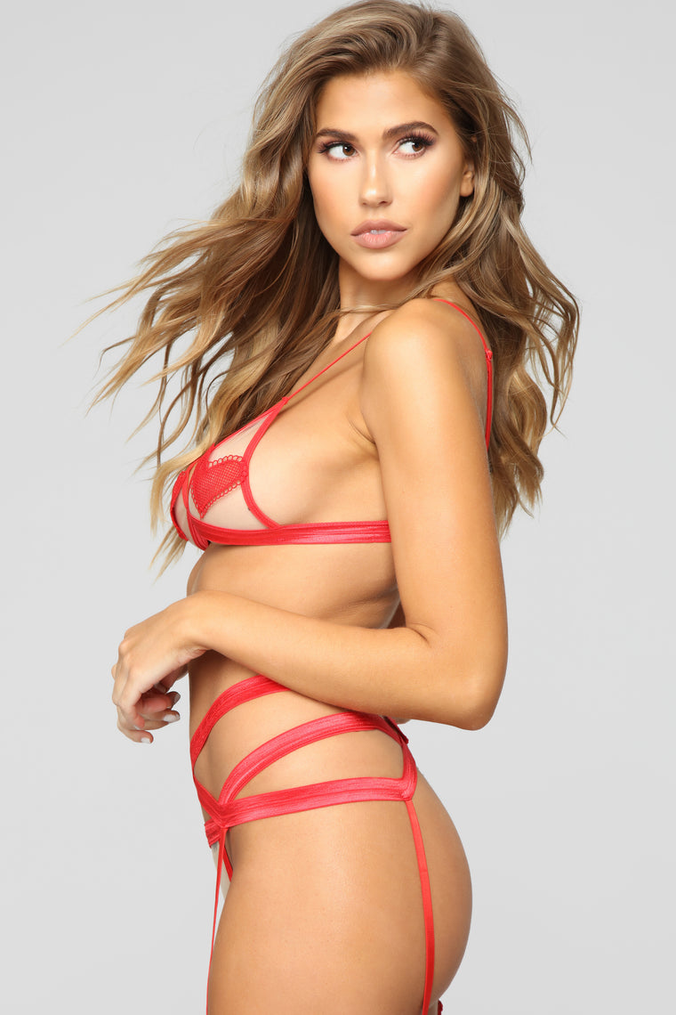 Hold My Heart 3 Piece Set - Red