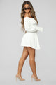 Gaze At Me Off Shoulder Dress - White