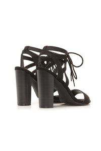 Different Love Heeled Sandals - Black
