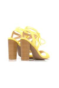 Different Love Heeled Sandals - Yellow Angle 7