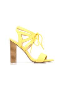 Different Love Heeled Sandals - Yellow Angle 6