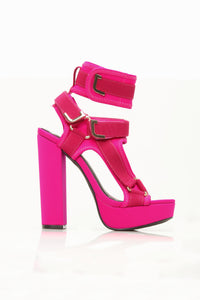 Head In The Clouds Platform Heel - Fuchsia
