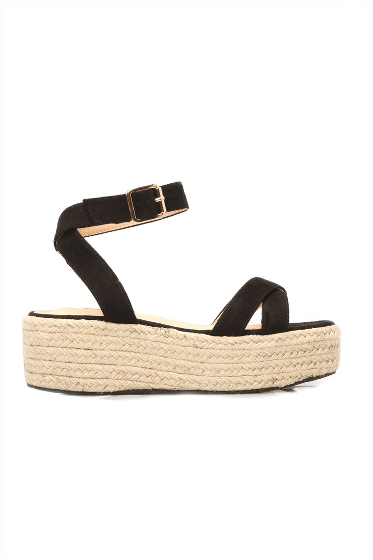 Bad Liar Flat Sandals - Black