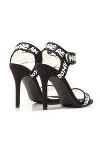 Truly Loved Heeled Sandal - Black