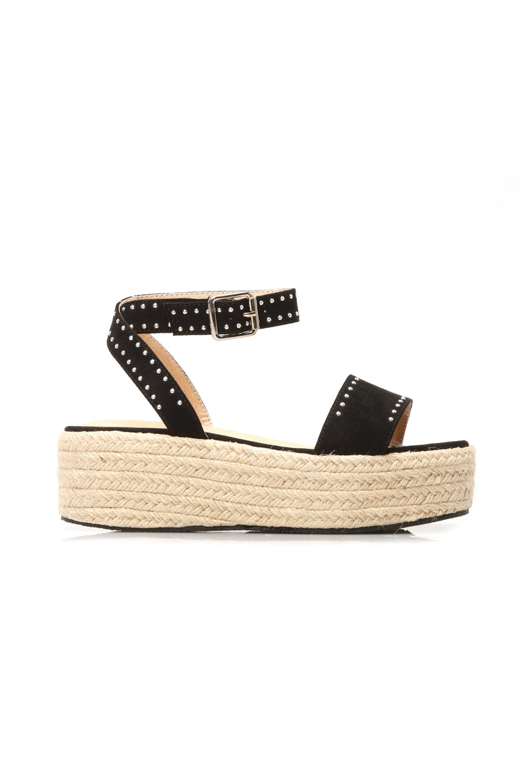It's All Yours Flat Sandal - Black