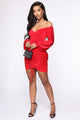 Fit Your Needs Mini Dress - Red