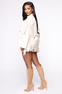 Night At The Rodeo Fringe Jacket - Nude Angle 4