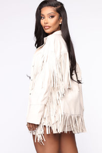 Night At The Rodeo Fringe Jacket - Nude Angle 3