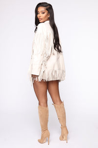 Night At The Rodeo Fringe Jacket - Nude Angle 5