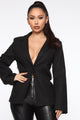 Holes In Your Story Chain Blazer - Black