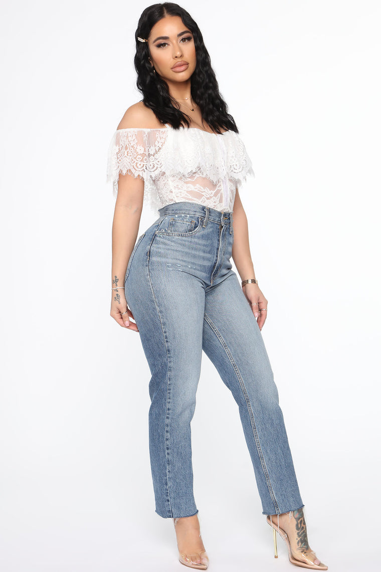 Weekends In Venice Lace Bodysuit - Off White