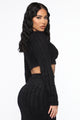 Cozy Love Sweater Set - Black