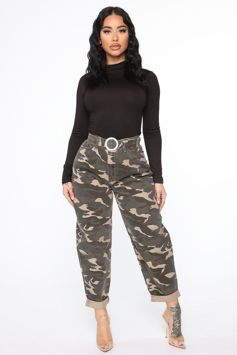 Cute In Camo Jogger Pant - Olive/combo