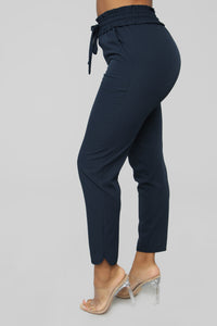 Take The High Road Pants - Navy