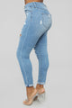 I Can't Take It Anymore Skinny Jeans - Medium Blue Wash