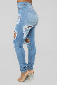 Play It Again Skinny Jeans - Light Blue Wash