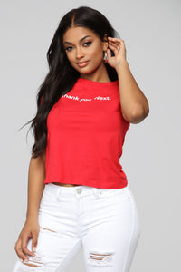 Thank You Next Short Sleeve Tee - Red