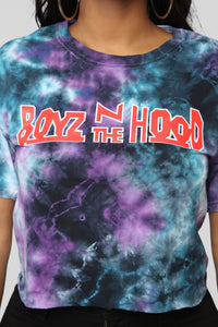 Boyz N The Hood Crop Top - Purple Combo