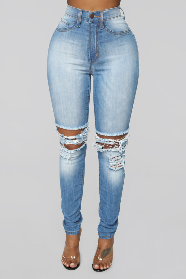 44e22f68b5c03f One More Time Skinny Jeans - Light Blue Wash